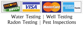 Water Testing Windham ConnecticutT Credit Cards Accepted